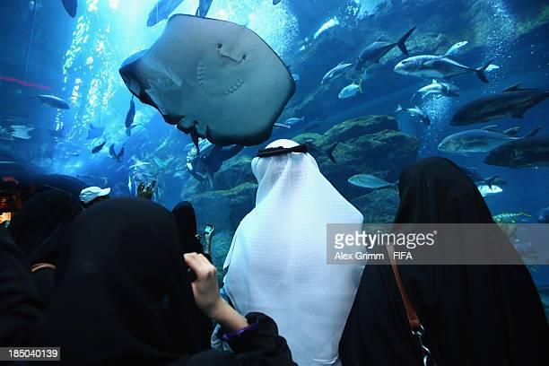 General view of Dubai Aquarium ahead of the FIFA U17 World Cup UAE 2103 on October 17 2013 in Dubai United Arab Emirates