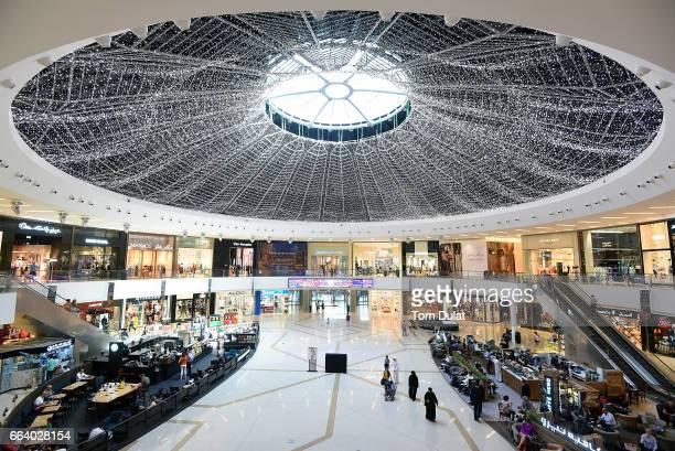 General view of Dubai Marina Mall on April 2 2017 in Dubai United Arab Emirates