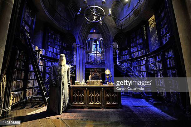 A general view of Dumbledore's office on the set of Harry Potter at the Warner Bros Studio Tour London The Making of Harry Potter at Leavesden...