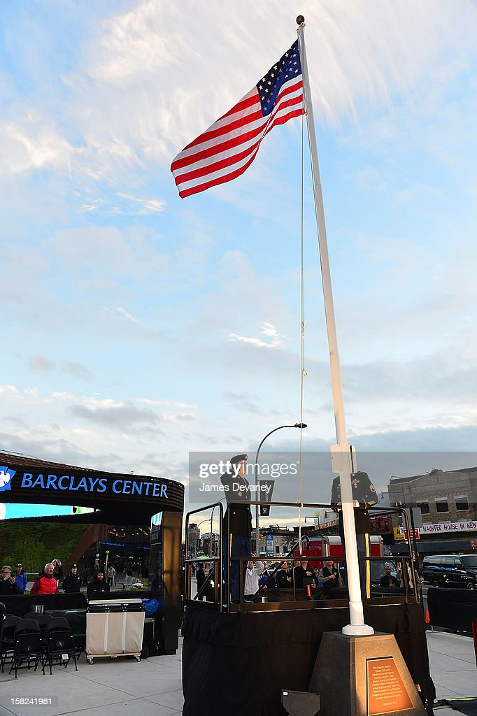A general view of Ebbets Field Flagpole Commemoration at the Barclays Center on December 11, 2012 in the Brooklyn borough of New York City.