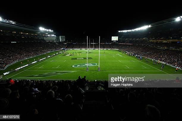 A general view of Eden Park during The Rugby Championship Bledisloe Cup match between the New Zealand All Blacks and the Australian Wallabies at Eden...