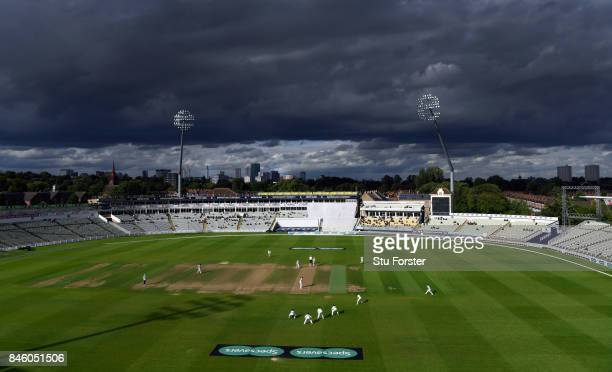 A general view of Edgbaston during day one of the Specsavers County Championship Division One match between Warwickshire and Essex at Edgbaston on...