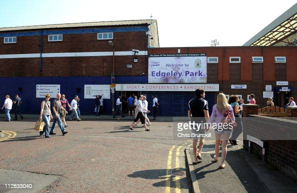 A general view of Edgeley Park prior to the AVIVA Premiership match between Sale Sharks and Exeter Chiefs at Edgeley Park on April 22 2011 in...