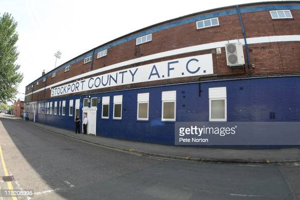 A general view of Edgeley Park prior to the npower League Two match between Stockport County and Northampton Town Town at Edgeley Park on April 25...