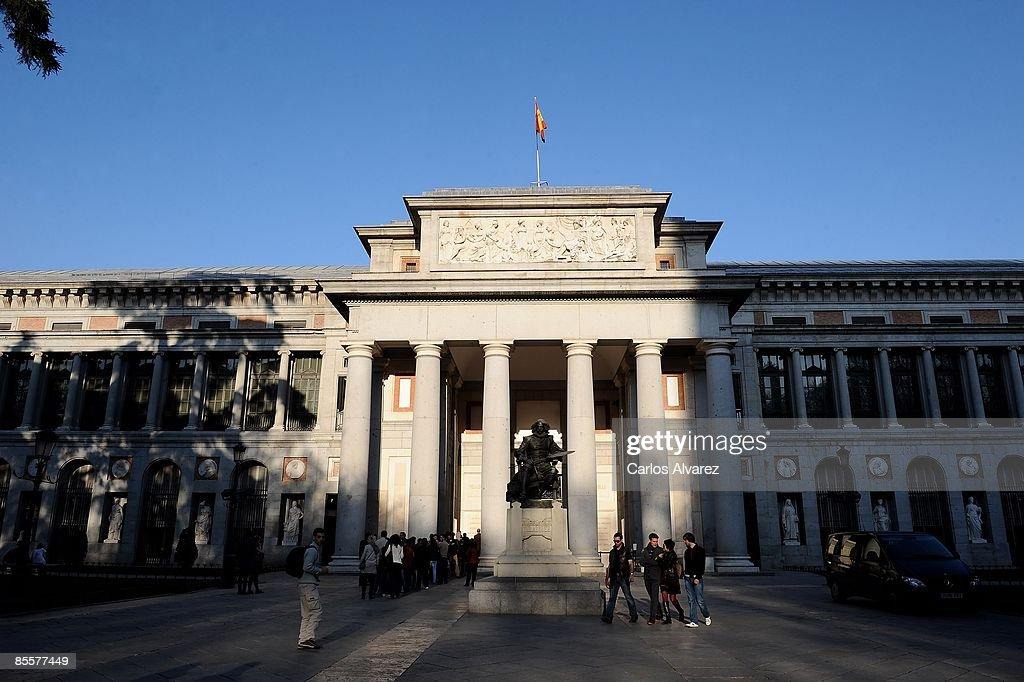 General view of 'El Prado' Museum on March 24 2009 in Madrid Spain