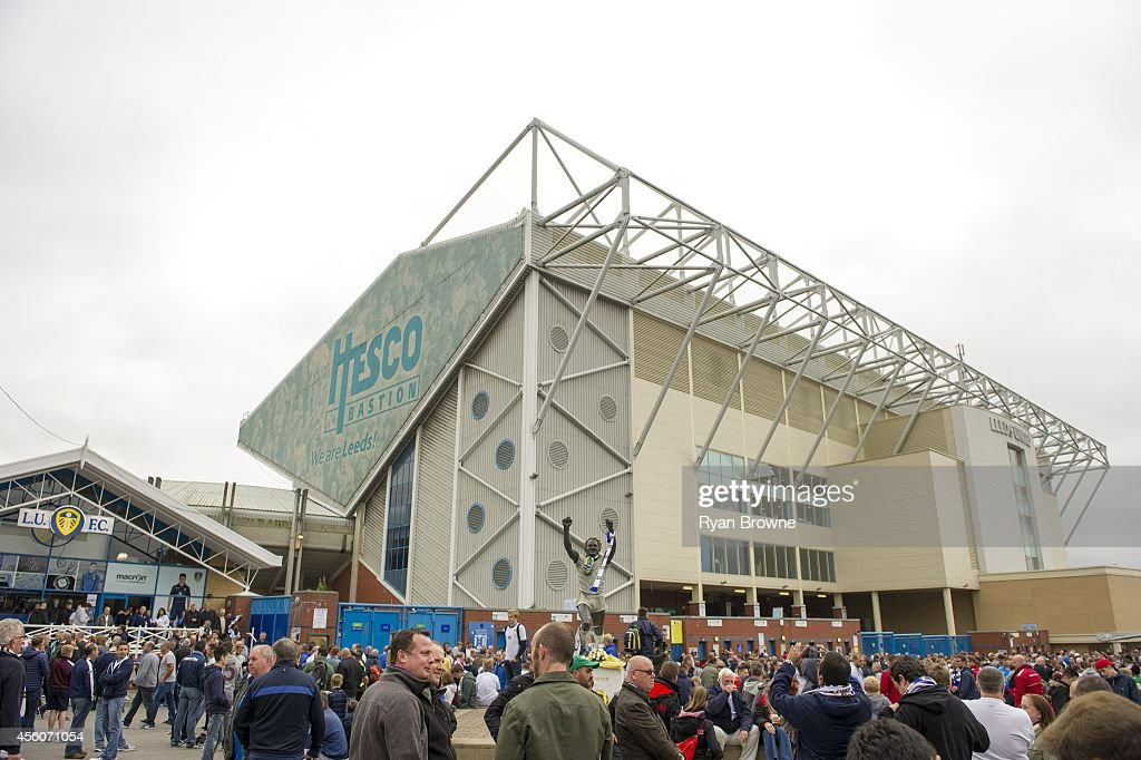 General view of Elland Road before the Sky Bet Championship match between Leeds United and Huddersfield Town at Elland Road Stadium on September 20...