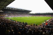 General view of Elland Road during the FA Barclaycard Premiership match between Leeds United and Arsenal at Elland Road Leeds England on September 28...