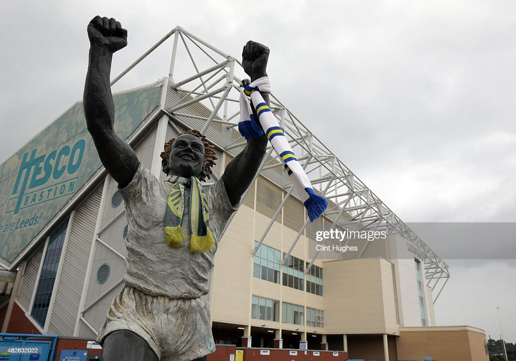 A general view of Elland Road stadium during the Pre Season Friendly match between Leeds United and Everton at Elland Road on August 1 2015 in Leeds...