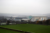 General view of Elland Road Stadium from Beeston Hill ahead of the Sky Bet Championship match between Leeds United and Derby County at Elland Road on...
