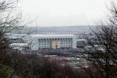 General View of Elland Road Stadium on January 18 2004 in Leeds England
