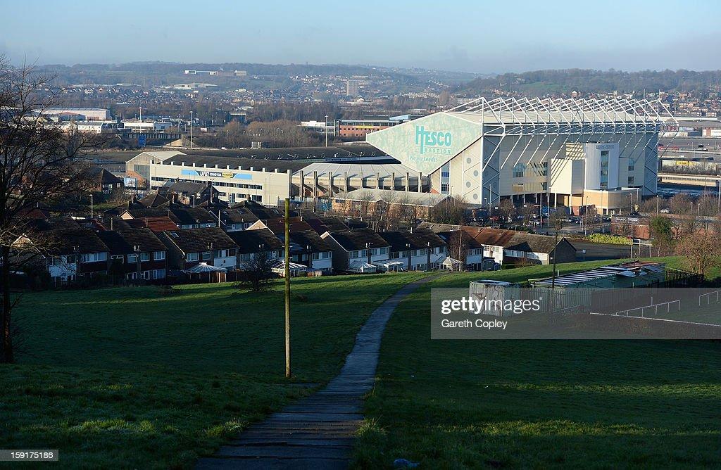 General view of Elland Road Stadium on January 9, 2013 in Leeds, United Kingdom.