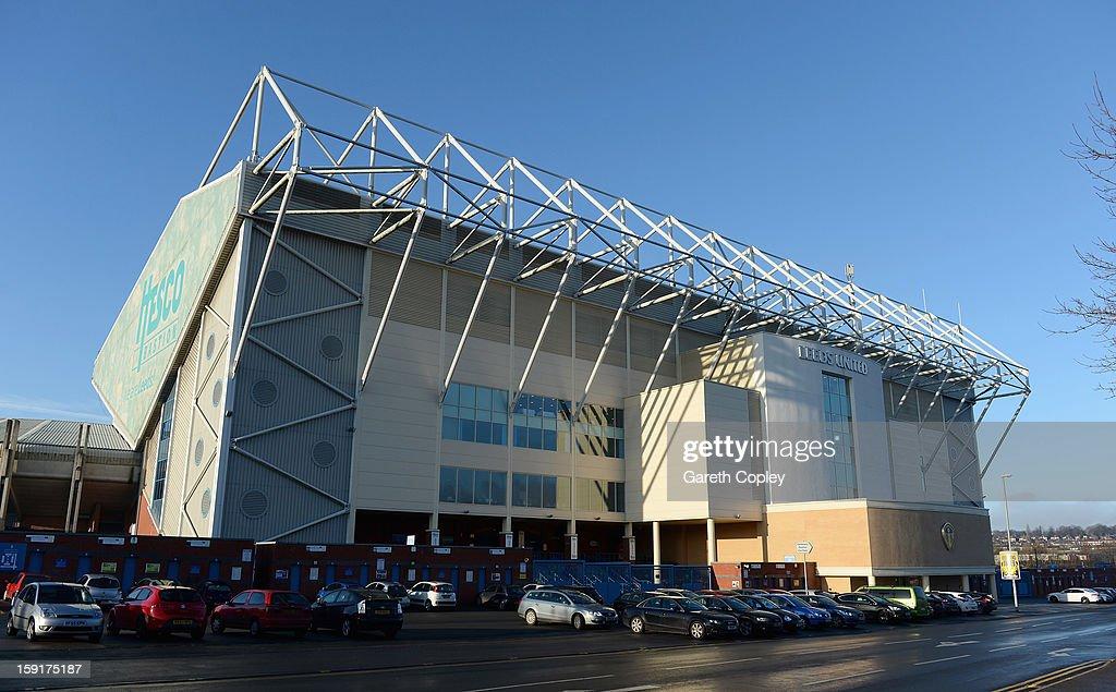 General view of Elland Road Stadium on January 9 2013 in Leeds United Kingdom
