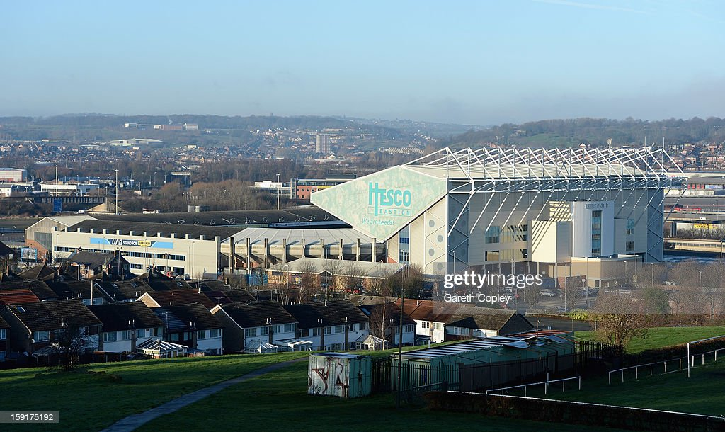 General view of Elland Road Stadium on January 9, 2013 in Leeds, United Kingdom.
