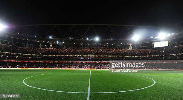 A general view of Emirates Stadium before the Barclays Premier League match between Arsenal and Manchester City on December 21 2015 in London