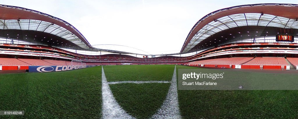 A general view of Emirates Stadium before the Barclays Premier League match between Arsenal and Leicester City on February 14, 2016 in London, England.