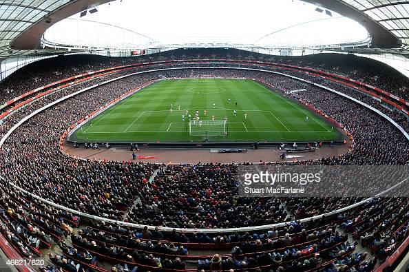 Arsenal stadium stock photos and pictures getty images for Emirates stadium mural