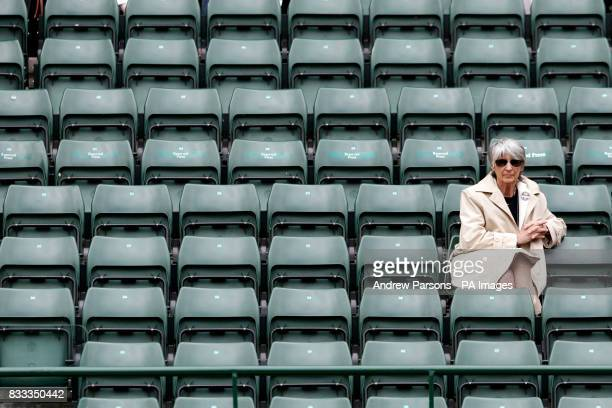 General view of empty seats on court one during the match between Serbia's Novak Djokovic and Cyprus' Marcos Baghdatis during The All England Lawn...