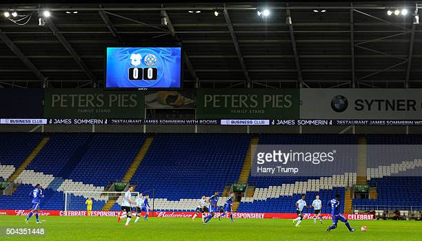 General view of empty stands at the Cardiff City Stadium during The Emirates FA Cup Third Round match between Cardiff City and Shrewsbury Town at the...