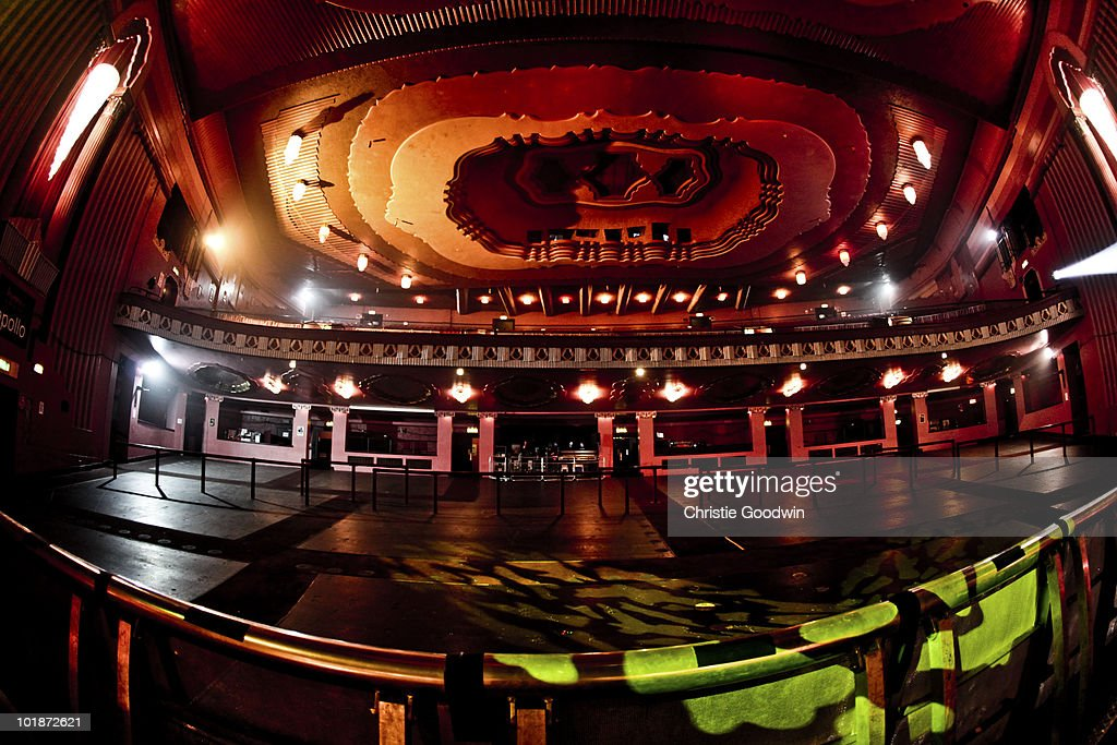 General view of empty venue at Hammersmith Apollo on May 28, 2010 in London, England.