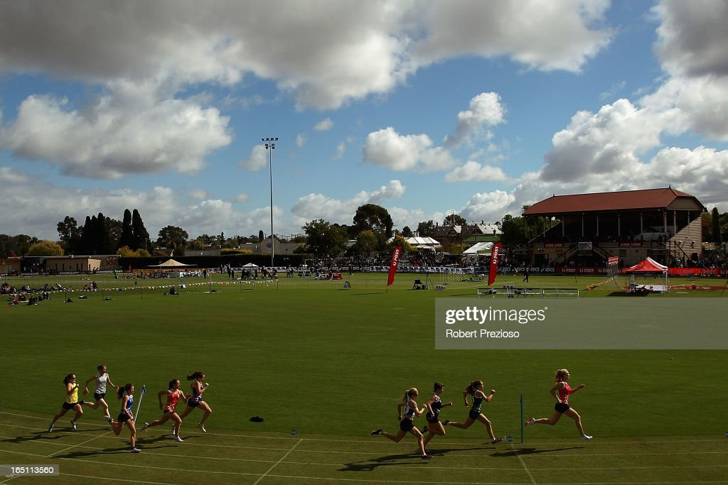 A general view of Endura Sports Nutrition Lorraine Donnan Women's Handicap during the 2013 Stawell Gift carnival at Central Park on March 31, 2013 in Stawell, Australia.