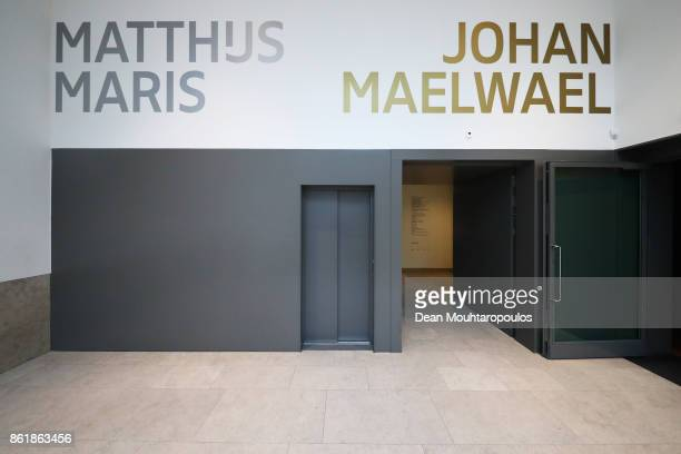 A general view of entrance to see art work by Matthijs Maris and Johan Maelwael during a special exhibition held at the Rijksmuseum Exhibition on...