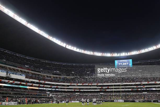 A general view of Estadio Azteca during the game between the New England Patriots and the Oakland Raiders on November 19 2017 in Mexico City Mexico