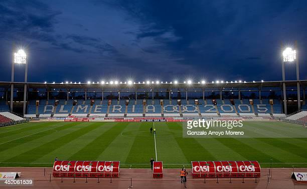 General view of Estadio de Los Juegos Mediterraneos pitch prior to start the La Liga match between UD Almeria and Real Madrid CF on November 23 2013...