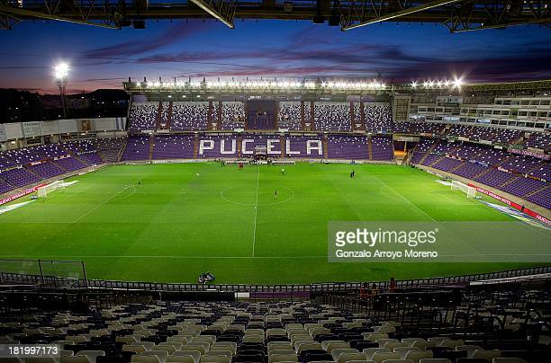 General view of Estadio Jose Zorilla prior to start the La Liga match between Real Valladolid CF and Club Atletico de Madrid on September 21 2013 in...
