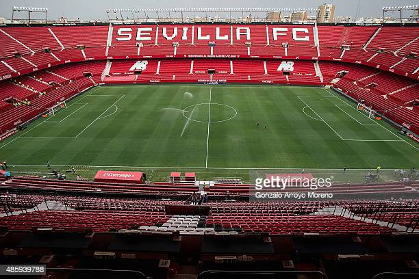General view of Estadio Ramon Sanchez Pizjuan after its refurbishment and before the La Liga match between Sevilla FC and Club Atletico de Madrid on...