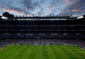 General view of Estadio Santiago Bernabeu during the La Liga match between Real Madrid CF and Elche CF on September 23 2014 in Madrid Spain