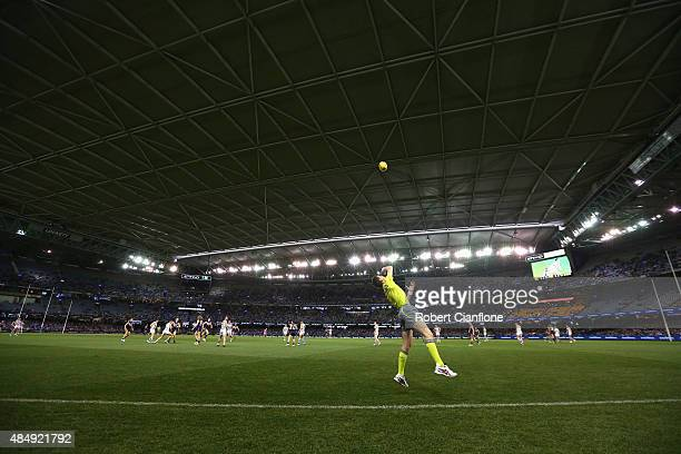 A general view of Etihad Stadium during the round 21 AFL match between the North Melbourne Kangaroos and the Fremantle Dockers at Etihad Stadium on...