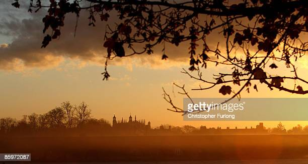 A general view of Eton College bathed in evening light with College Chapel prominent on November 15 2007 in Eton England An icon amongst private...