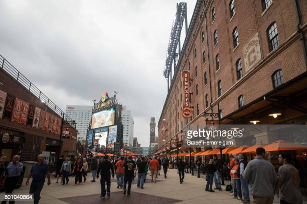 A general view of Eutaw Street prior to the game between the Minnesota Twins and Baltimore Orioles on May 23 2017 at Oriole Park at Camden Yards in...