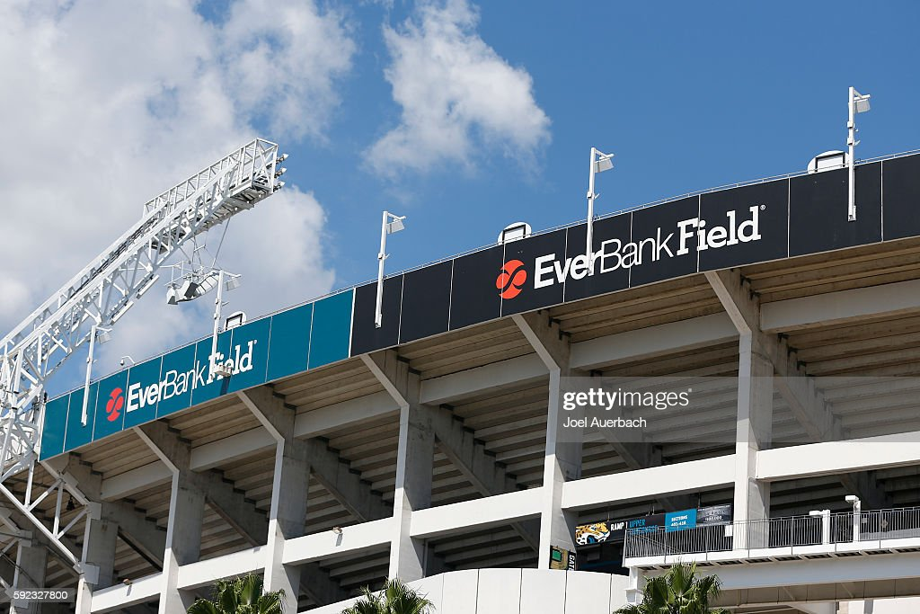 A general view of EverBank Field prior to the preseason game between the Jacksonville Jaguars and the Tampa Bay Buccaneers on August 20, 2016 in Jacksonville, Florida.