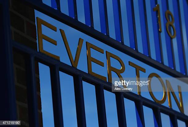 A general view of Everton gates prior to the Barclays Premier League match between Everton and Manchester United at Goodison Park on April 26 2015 in...