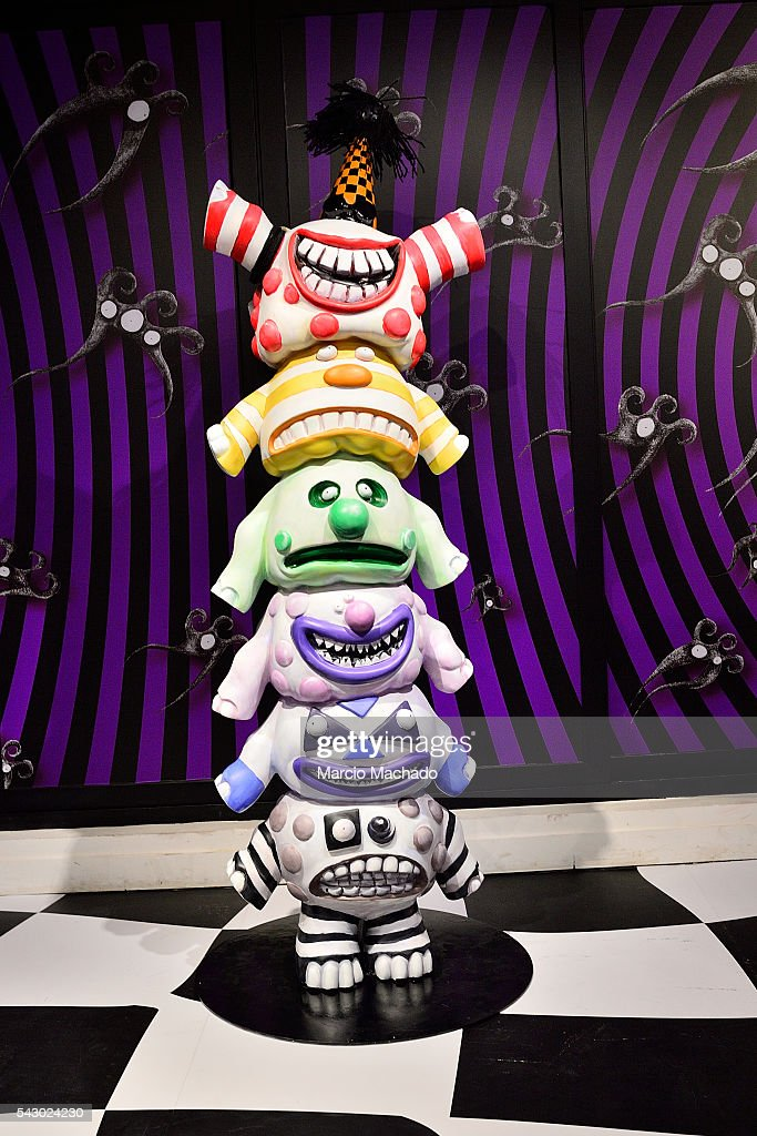 A general view of exhibits during the launch of The World of Tim Burton on June 25, 2016 in Shanghai, China.