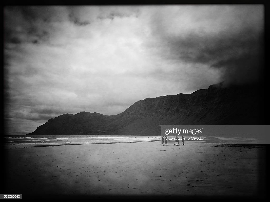 A general view of Famara beach on April 20, 2016 in Lanzarote, Spain.