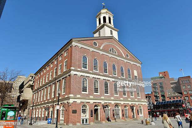 A general view of Faneuil Hall Market on April 26 2013 in Boston