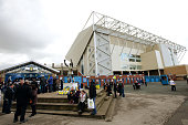 A general view of fans arriving at Elland Road Stadium prior to kick off in the Sky Bet Championship League match between Leeds United and Bolton...