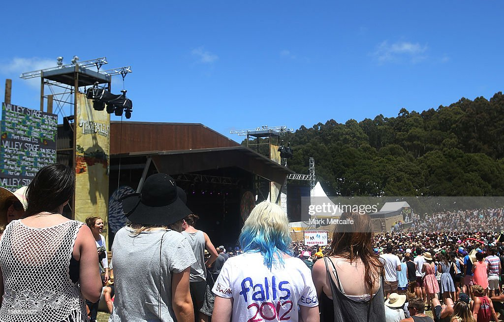 A general view of fans at the Valley Stage as Ball Park Music perform on stage at The Falls Music and Arts Festival on December 30, 2012 in Lorne, Australia.