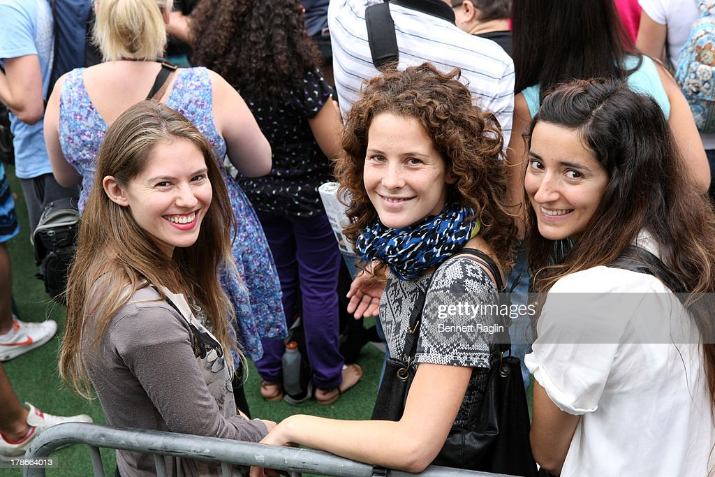 A general view of fans during ABC's 'Good Morning America' at Rumsey Playfield on August 30, 2013 in New York City.
