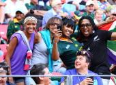 General view of fans during day 2 of the Cell C Nelson Mandela Bay Sevens at Nelson Mandela Bay Stadium on December 08 2013 in Port Elizabeth South...