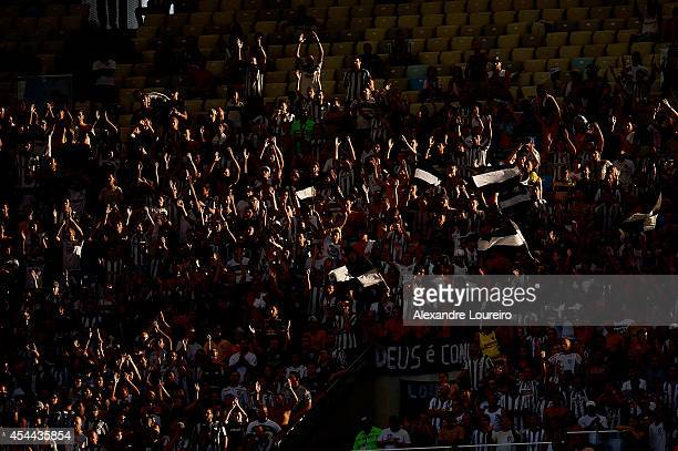 A general view of fans of Botafogo during the match between Botafogo and Santos as part of Brasileirao Series A 2014 at Maracana stadium on August 31...