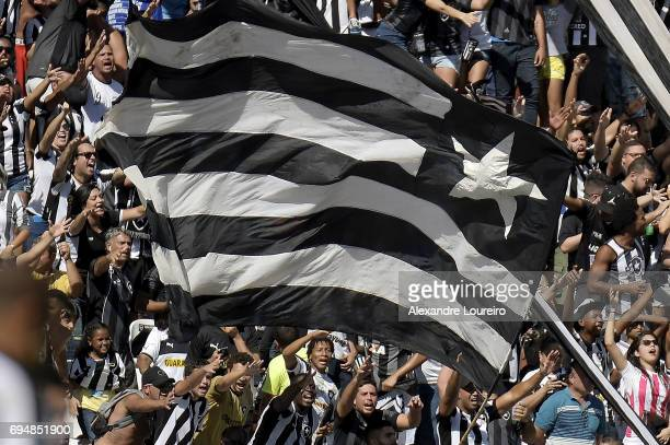 A general view of fans of Botafogo during the match between Botafogo and Coritiba as part of Brasileirao Series A 2017 at Engenhao Stadium on June 11...