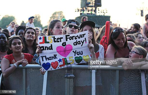 General view of fans of JLS at British Summer Time at Hyde Park on July 7 2013 in London England
