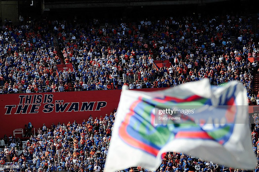 General view of fans of the Florida Gators during a game against the Vanderbilt Commodores at Ben Hill Griffin Stadium on November 9 2013 in...