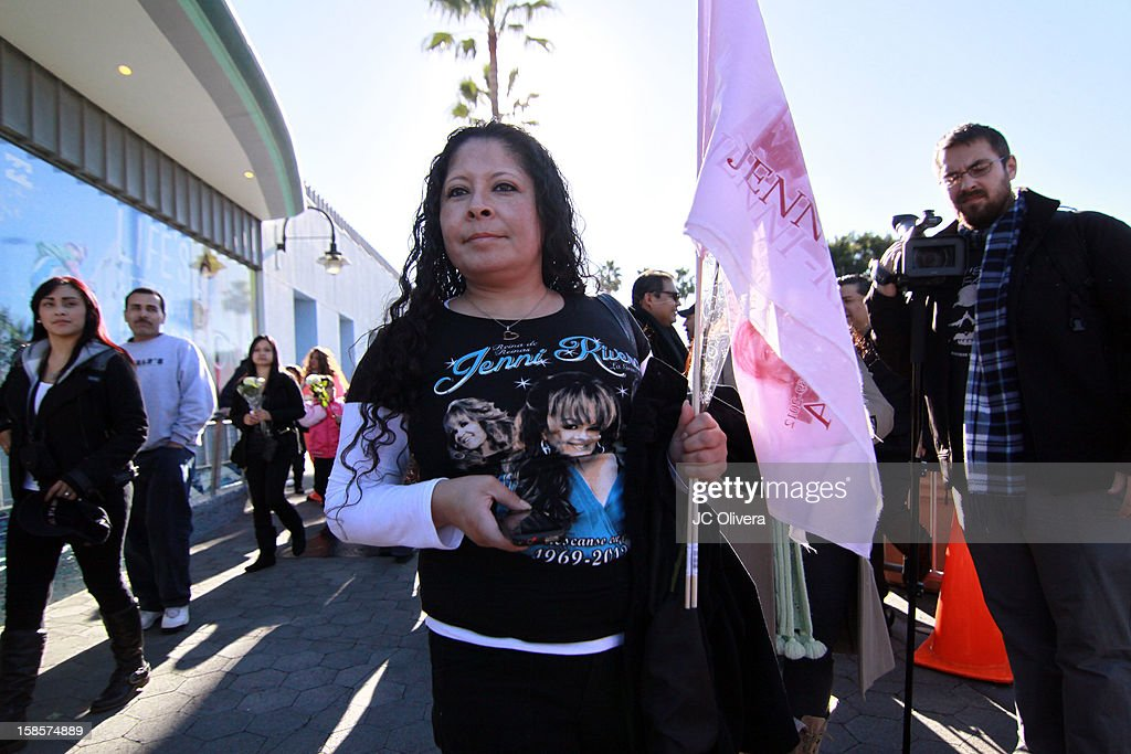 General view of fans outside the Gibson Amphitheater during Jenni Rivera Celestial Graduation at Universal City Walk on December 19, 2012 in Universal City, California.