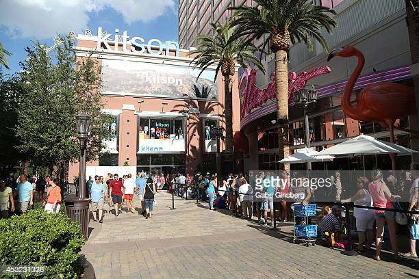 A general view of fans waiting for 'The Grumpy Guide to Life Observations By Grumpy Cat' book launch at Kitson Las Vegas on August 5 2014 in Las...