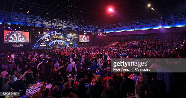 A general view of fans watching Jelle Klaasen against Brendan Dolan during day eleven of the William Hill World Darts Championship at Alexandra...