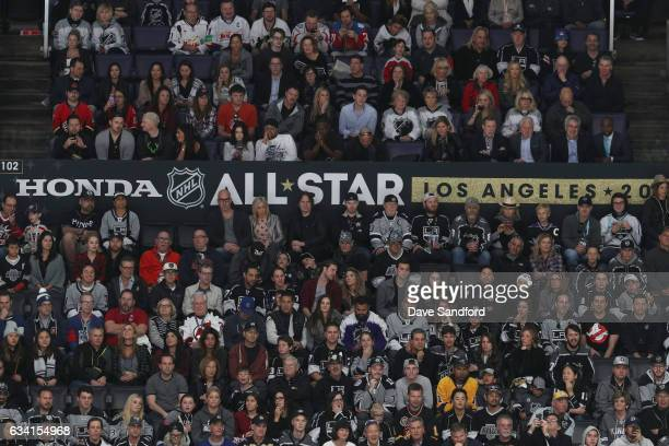 A general view of fans watching the 2017 Honda NHL AllStar Game is seen at Staples Center on January 29 2017 in Los Angeles California